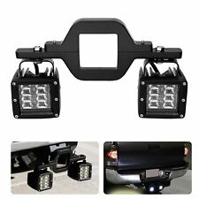 Tow Trailer Hitch Mounting Bracket Kit Led Work Lights Pods Backup Reverse Truck