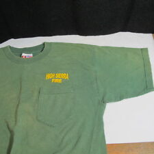 HIGH SIERRA FIRE Firefighting Fire Pocket T-shirt Logo Front & Back size Large