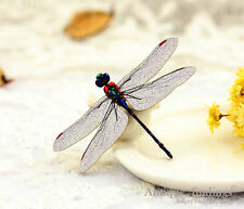 4pcs Dragonfly Woodland Handmade Wood Wooden Charms Pendants HW079P