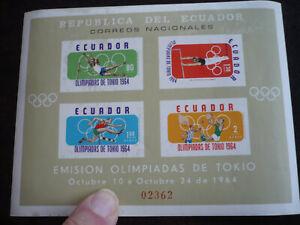 Stamps - Ecuador - Scott# C434a - Souvenir Sheet - Imperf