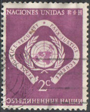 United Nations 2c Peace Justice Security 1951 Used