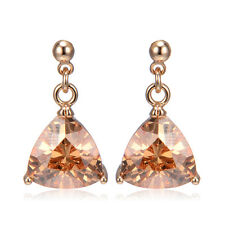 Earrings Stud Yellow Gold Filled Triangle Wholesale Vintage Korean Retro