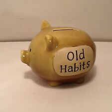 Piggy Bank Save Money Old Habits Theme (Smoking Spending Drugs Alcohol Etc) 4.5""