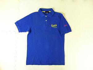 [GOODS] SUBARU Sti Genuine Polo shirt M size 555 WRC blue mens vintage