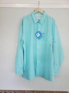 Columbia PFG Pro Fishing Gear Long Sleeve Shirt UPF 30 Size 2XL