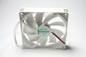 Cooling Fan DC Fan 12V 0.4A Rifle Bearing 140mm x 25mm 9 blade White color