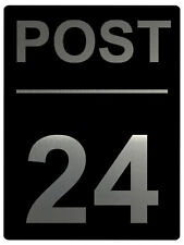 583 Personalised POST Metal Aluminium Plaque Sign Door House Gate Letter Parcels