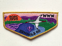SEMINOLE OA LODGE 85 SCOUT SERVICE PATCH FLAP 1994 NOAC DELEGATE GMY BORDER MINT