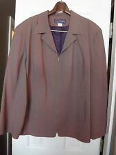 Maggie McNaughton Pant Suit, Polyester Blend, Taupe Color, 22 24 W