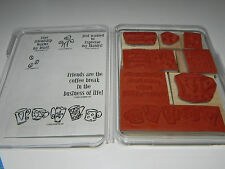 Stampin Up Espress Yourself Coffee Stamp Set 9 Express Espresso Bean Some Um