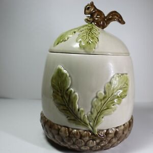 Acorn Cookie Jar with a Squirrel on Top by Otagiri Mercantile Co. Made in USA