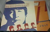 "Vtg. 1989 July Calendar Print ""Help"" John Lennon~Eileen Gale Wash U. St. Louis"