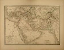 TURCHIA PERSIA IRAN AFHANISTAN ARABIA Carta Geografica 1854