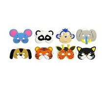 6 Kids Foam Face Animal Masks Jungle Party Bag Fillers Toys Costume Fancy Dress