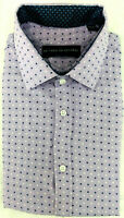 Society of Threads Slim Fit Dress Shirt, Purple Print, Size M 15-15.5 33/34