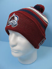 Hockey Colorado Avalanche Pom Knit Hat Avalanche Hockey Apparel Youth 8-20 NWT