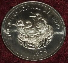 NICE 1979 COSTA RICA YEAR of the CHILD .925 SILVER 100 COLONES PROOF, 35 Gms. TW