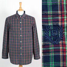 Para hombres Camisa Ralph Lauren Chaps Patrón de tartán de cuadros botones en el cuello L