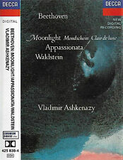 Beethoven Ashkenazy  Moonlight  Appassionata Waldstein CASSETTE ALBUM Sonatas