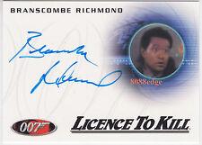 2014 JAMES BOND ARCHIVES AUTO:BRANSCOMBE RICHMOND-A236 AUTOGRAPH LICENCE TO KILL