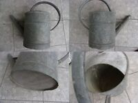 arrosoir ancien en zinc galvanisé