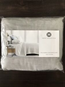 Hotel Collection Yarn Dye 525 Thread Count FULL / QUEEN Duvet Cover - Ash