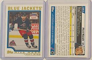 LOT 4 RICK NASH 2004 TOPPS NATIONAL TRADING CARD DAY COLUMBUS BLUE JACKETS PROM