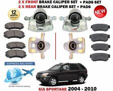 für Kia Sportage 2004-2010 2x Front + 2x Hinten Bremssattel Sets + Belag Set