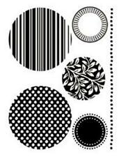 Transparent Silicone Mini Stamps 9cm Reusable 5 Circles Round Shapes Designs