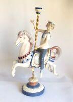 Lladro Jungen Karussel Pferd Retired Porzellan Figur 1470 Puche 38.1cm Spanische