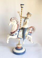Lladro Garçon Carrousel Cheval Retired Porcelaine Figurine 1470 Puche 38.1cm