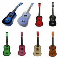 "23"" Guitarra Mini Guitarra Juguete musical de ninos de tilo Instrumento de  C9P8"
