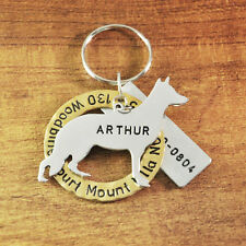Personalized German Shepherd Dog Tag, Dog Charm, Hand stamped Tag, Pet Jewelry