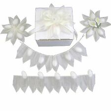 White Star PULL JORDAN ALMONDS CANDY BOW Ribbon decorations wedding favors -