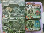 Transformers Heavytread Steelshot + 2 sets of 3rd Party TFC Iron Army