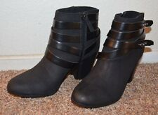 """NEW ~ Material Glirl  Women Black Suede Boots / Size 7.5 m / 3"""" Heel  VERY CUTE"""