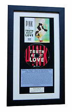 PINK Truth About Love CLASSIC CD GALLERY QUALITY FRAMED+EXPRESS GLOBAL SHIPPING!