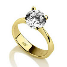 F Si Round Cut 0.75 ct Solitaire Diamond Engagement Ring For Women