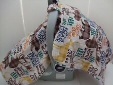 Deer,elk,bears,antlers print infant car seat carrier tent/canopy cover