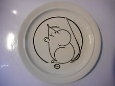 assiette publicitaire esso souris  plate advertising Esso mousse 70's PJM 75 gaz