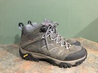 MERRELL J87316 MOAB GRAY LEATHER LACE UP HIKING BOOTS WOMENS SIZE 8.5M