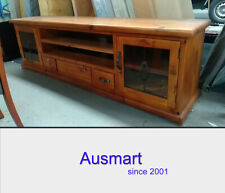 2.2m solid timber entertainment uint TV stand | postage $30 for Melb. metro