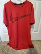 Men'S Nike Pro Dri-Fit T-Shirt, Standard Fit, Dark Red, Size Xl - Euc