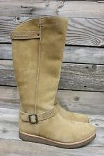 UGG Australia Womens Gellar Chestnut Suede Tall Knee High Riding Boots US 11 NEW