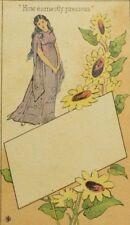 1870's-80'sJos. H Zahn Jr School Books Second Hand Books Lady Sunflowers P42