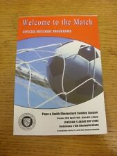 19/04/2015 Chelmsford Sunday League Division 1 Cup Final: Redstones v Old Chelms
