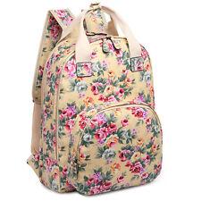 Ladies Fashion floral Print Tote Bag School Travel Backpack Satchel Purse
