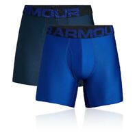 Under Armour Mens Tech 15cm Boxerjock Blue Sports Gym Running Breathable