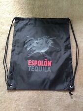 El Espolon Tequila Black Drawstring Bag Sack Backpack Brand New