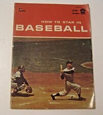 VINTAGE 1968 HOW TO STAR IN BASEBALL SPORTS PUBLICATION BOOK